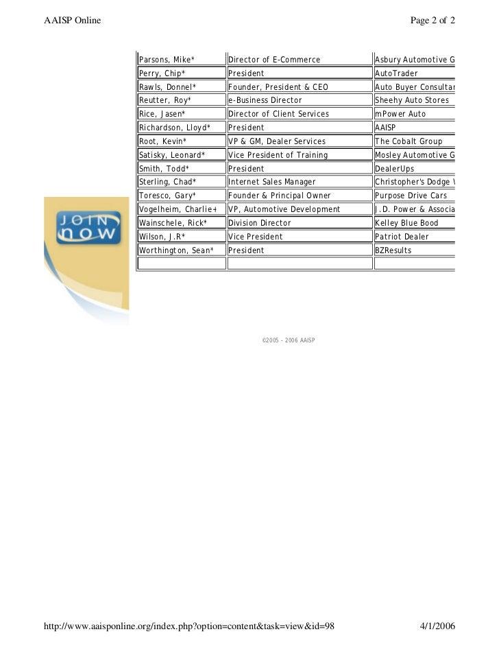 Association of Automotive Internet Sales Professionals