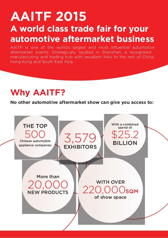Aaitf2015 automotive aftermarket industry and tuning; china, shenzhen Slide 2