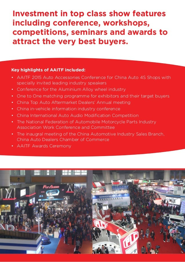 Aaitf2015 automotive aftermarket industry and tuning; china, shenzhen Slide 3