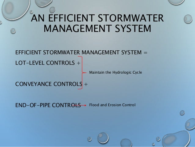 Introduction: Effects of LID on an urban stormwater ...