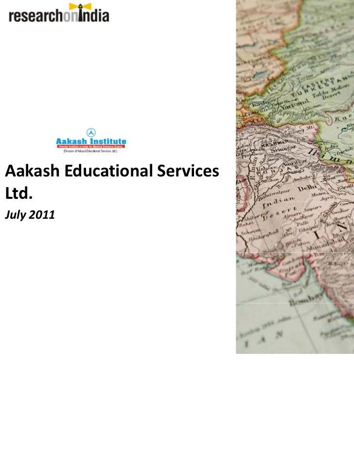 AakashEducationalServicesLtd.July2011