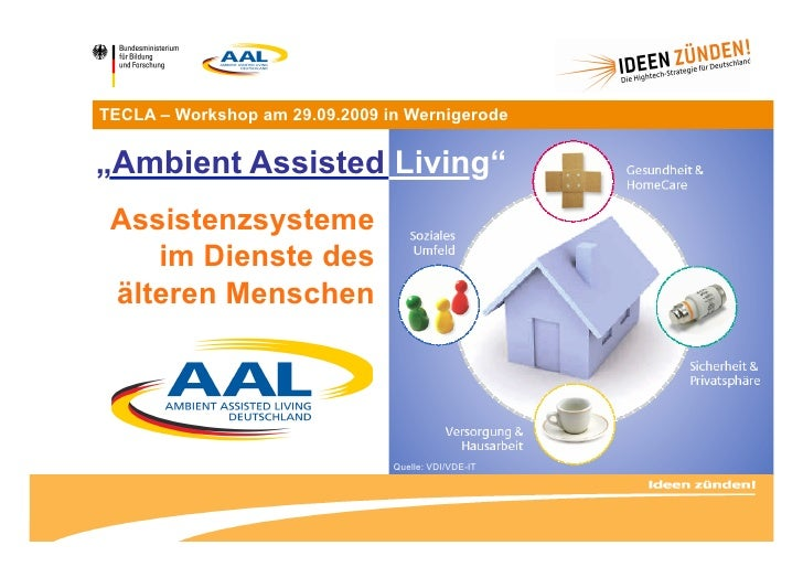 "TECLA – Workshop am 29.09.2009 in Wernigerode   ""Ambient Assisted Living""  Assistenzsysteme     im Dienste des  älteren Me..."