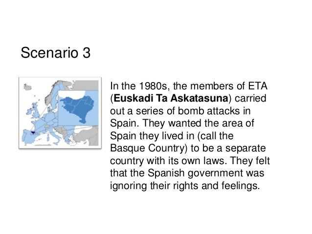 a history of the euskadi ta askatasuna terror attacks in spain The attack was blamed on basque separatist group euskadi ta askatasuna the 2009 burgos bombing occurred on 29 july 2009, when at least 65 people were injured after.