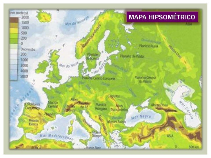 mapa hipsométrico da europa A altitude mapa hipsométrico da europa