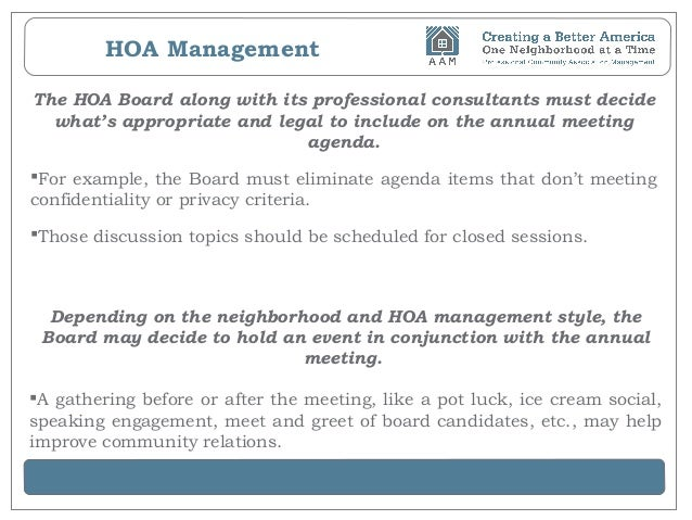 Hoa Management How To Conduct Annual Meetings Without A Glitch