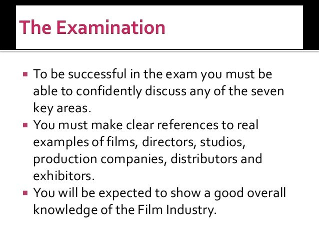 an examination of the film industry of cuba What's your place in the film industry a risk assessment is an examination of what could cause harm on a particular film production risk assessment.