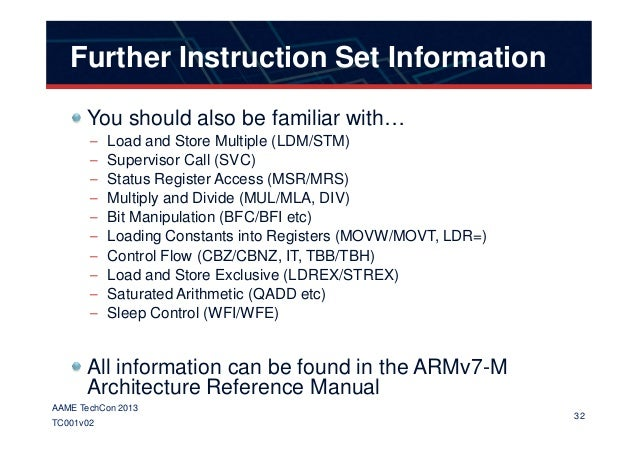 arm instruction set reference manual