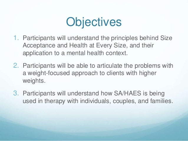 Size Acceptance & Health at Every Size for MFTs Slide 2