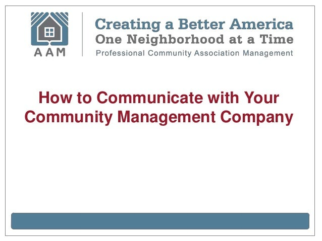 How to Communicate with YourCommunity Management Company