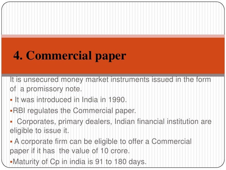 is commercial paper a short term liquid asset A commercial paper  it is a short-term promise made by a corporate,  it is highly liquid and is convertible to any currency or checkable deposit.