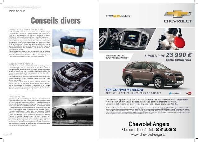 62 VIDE POCHE Conseils divers La batterie n'aime pas le froid La batterie est la première cause de panne sur un véhicule l...