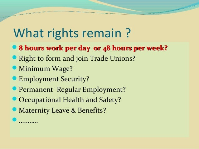Combating Erosion of Worker and Trade Union Rights Slide 2