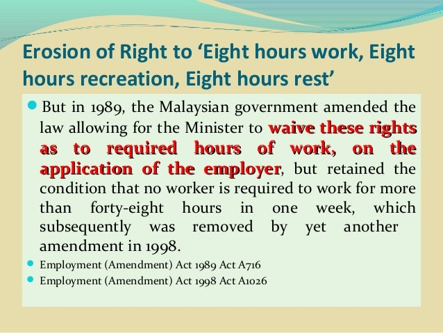 Combating Erosion of Worker and Trade Union Rights Slide 3