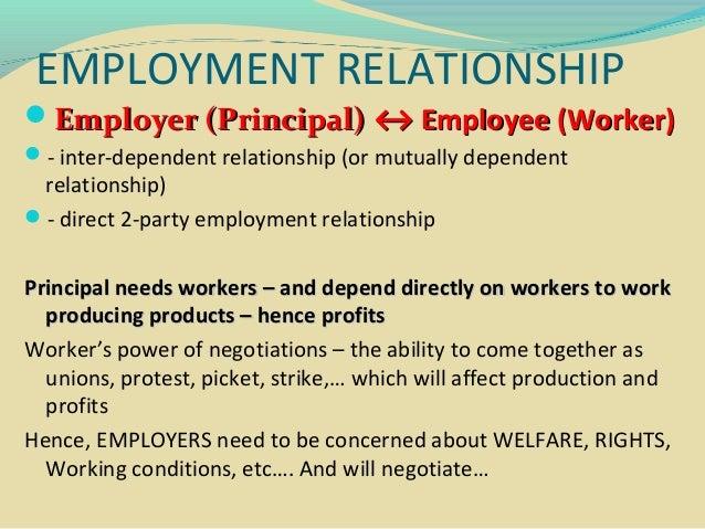 reciprocal relationship between employee and employer The employee-organization relationship:  the employee and employer  is based on a reciprocal exchange between an employee's contribution .
