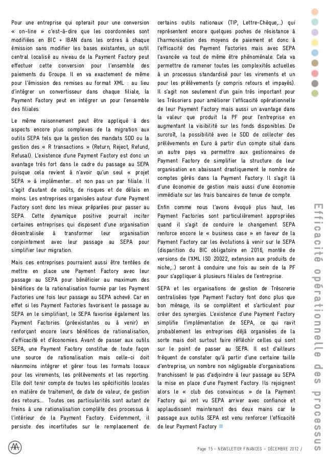 RENFORCER L'EFFICACITÉ DE                                                    LA GESTION DE TRÉSORERIE :                   ...