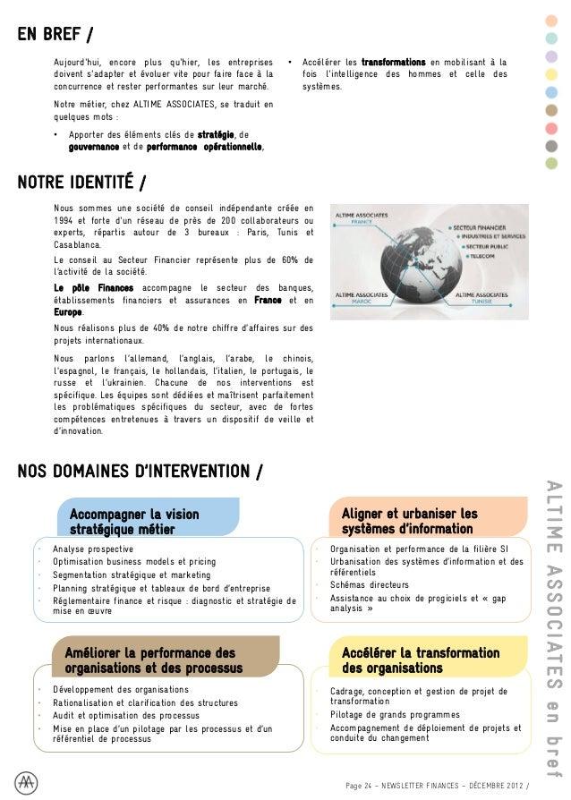Altime Associates Newsletter Finances Janvier 2013