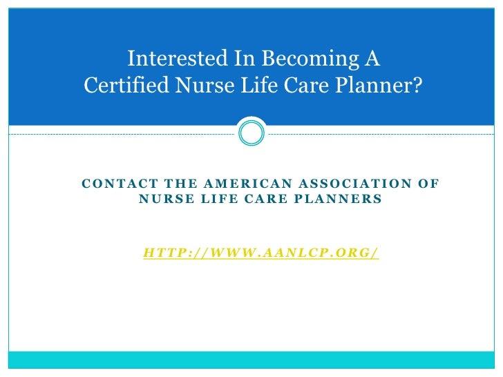 nurse life care planning