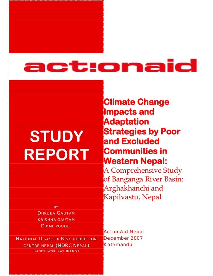 Climate Change                                   Impacts and                                   Adaptation                 ...