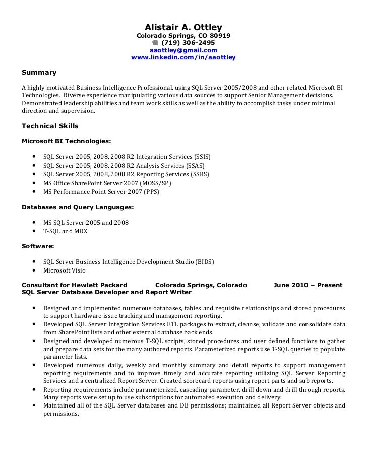 sample resume for software tester