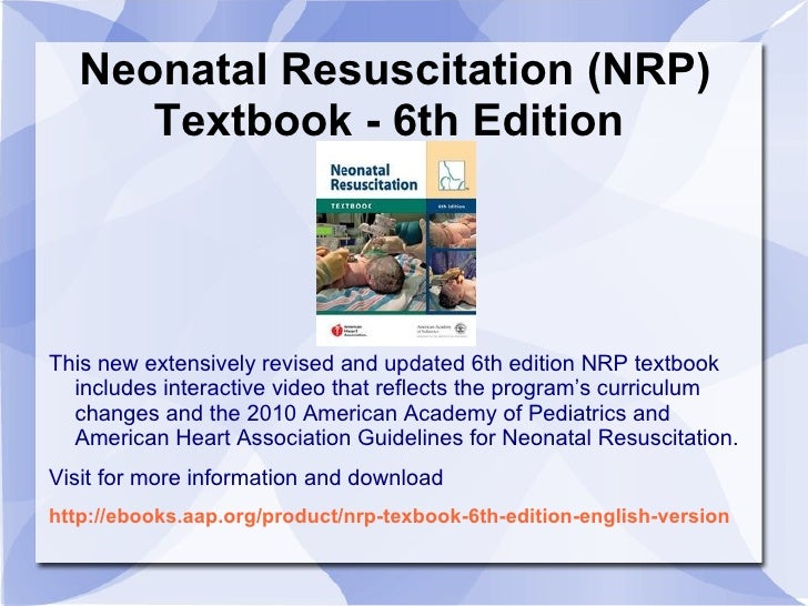 Neonatal resuscitation books neonatal resuscitation fandeluxe Choice Image