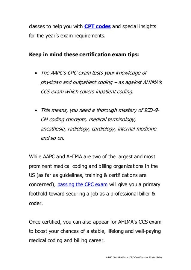 AAPC Certification - CPC Certification Study Guide