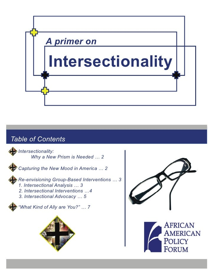 A primer on                 Intersectionality    Table of Contents   Intersectionality:         Why a New Prism is Needed ...