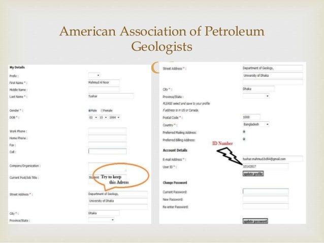 AAPG Membership Registration Procedure