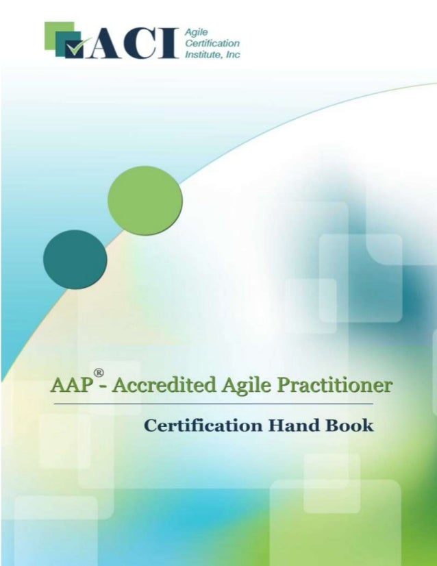 Accredited Agile Practitioner Aap Handbook