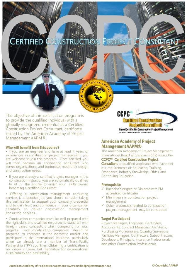 Ccpc Certified Construction Project Consultant By Syseneg Academy Sys
