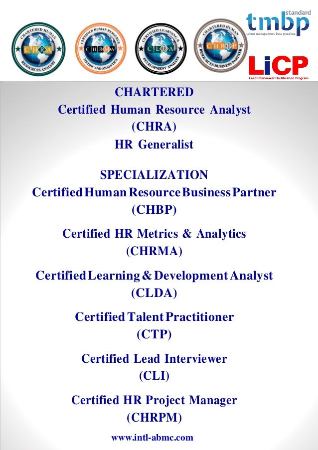 Gafm Global Academy Of Finance Management Hr Certification Progra