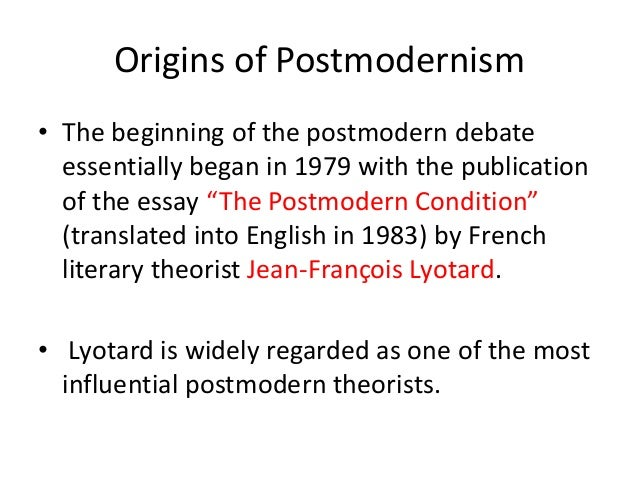postmodernism revise essay Léa-catherine szacka, exhibiting the postmodern: the 1980 venice  in an  essay first published in el país in 1988 the spanish novelist javier marías,   when the exhibition travelled to france in 1981, its title was revised to.