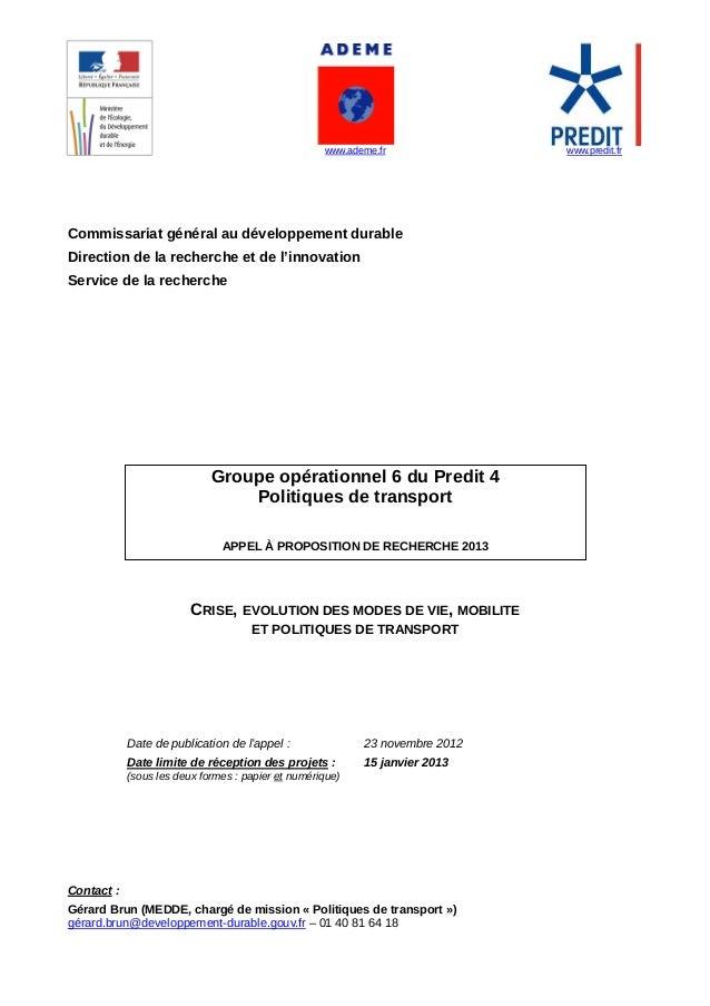 www.ademe.fr                      www.predit.frCommissariat...