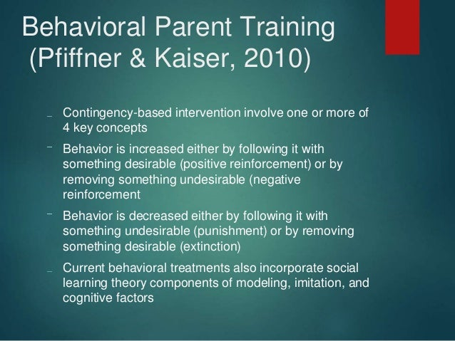Behavioral Intervention For Adhd Asd Odd And General