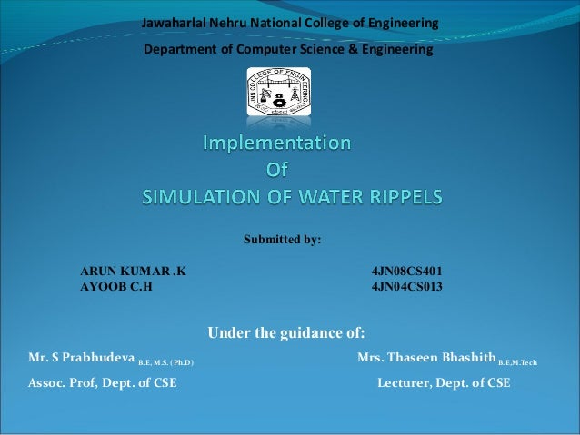 OpenGL Projects on SIMULATION OF WATER RIPPELS