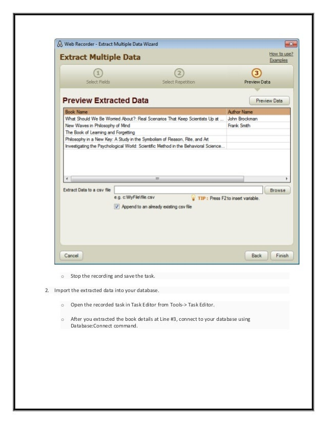 Automation Anywhere Examples