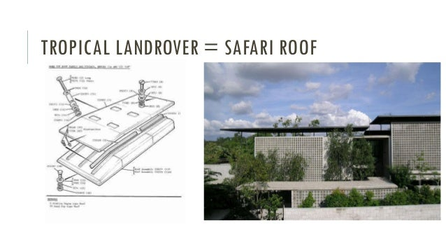 Presentation on flat roof double in safari roof house for Best house design tropical climate