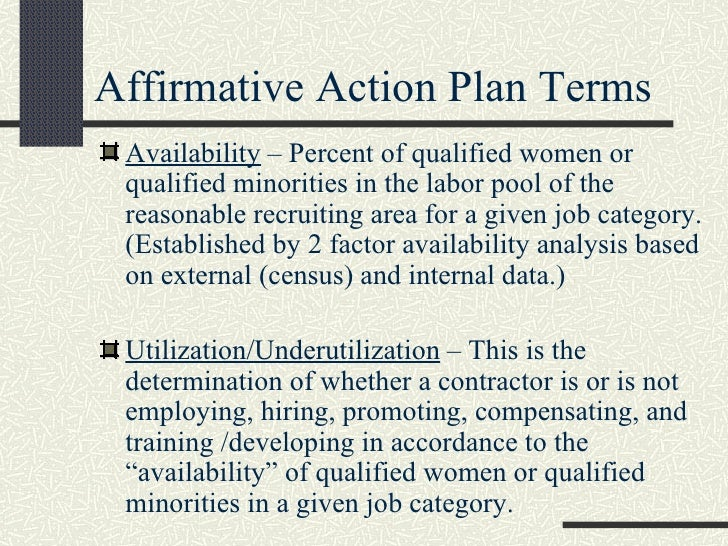 Affirmative Action Compliance Supervisor Training Presentation