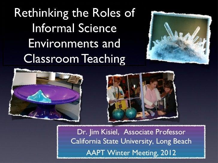 Dr. Jim Kisiel, Associate ProfessorCalifornia State University, Long Beach     AAPT Winter Meeting, 2012