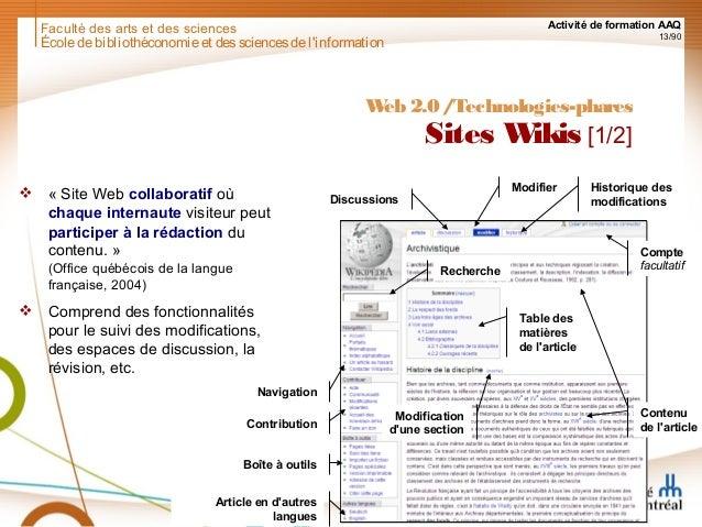 Web 2 0 gestion et conservation des sites web - Office quebecois de la langue francaise ...