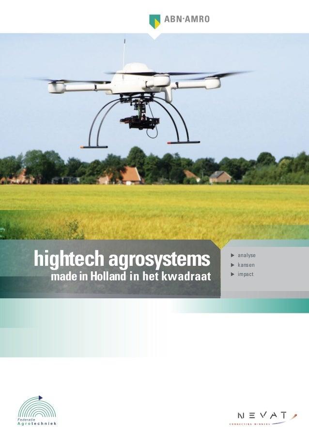 hightech agrosystems                 analyse                                     kansen made in Holland in het kwadraa...