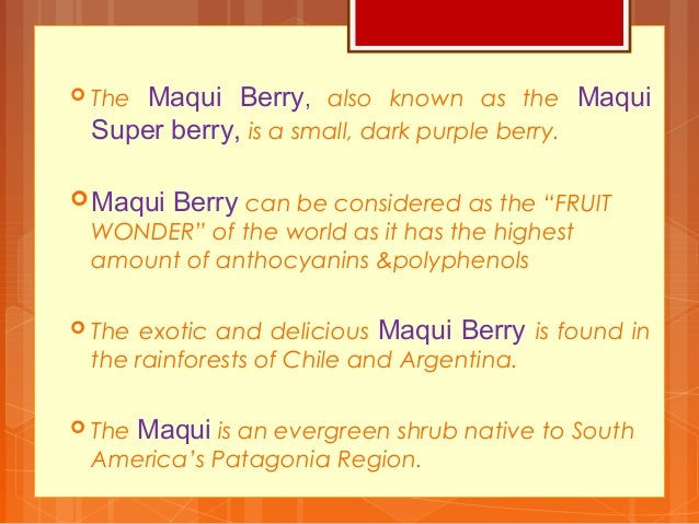 Aara Maqui Berry Juice Concentrate