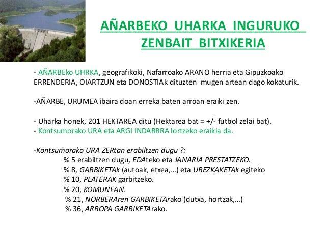 AÑARBEKO UHARKA INGURUKO ZENBAIT BITXIKERIA - AÑARBEko UHRKA, geografikoki, Nafarroako ARANO herria eta Gipuzkoako ERRENDE...