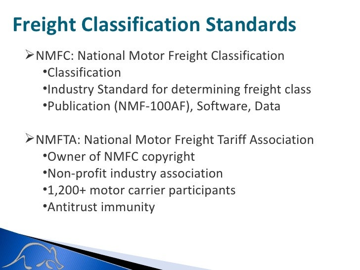Aardvark supply chain solutions an introduction to freight National motor freight classification nmfc
