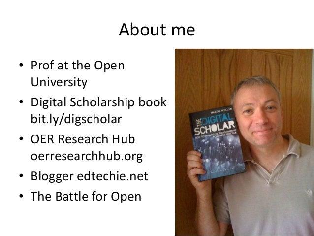 Open scholarship, social media & libraries Slide 2