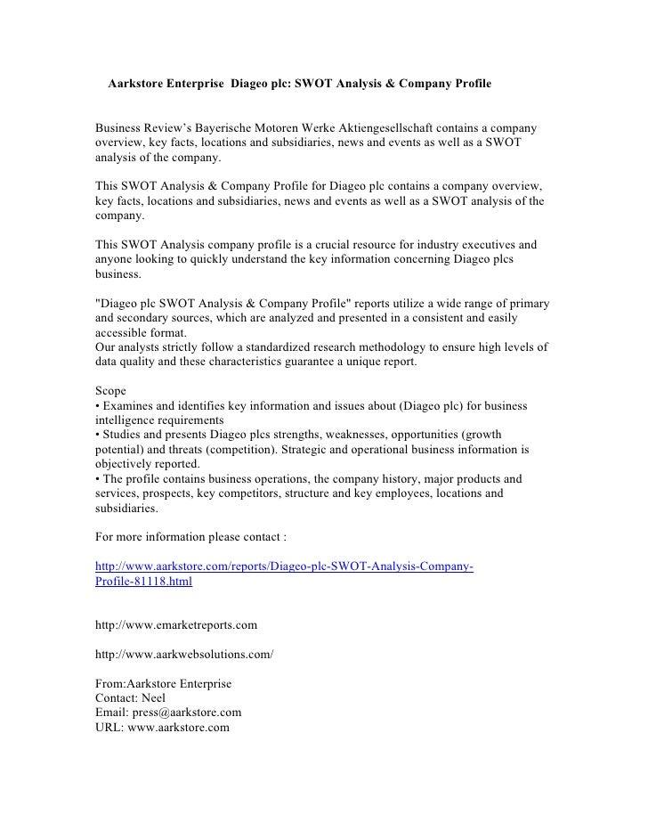 Swot analysis of whitbread plc