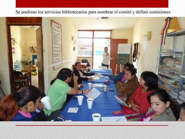 Se analizan los servicios bibliotecarios para nombrar el comité y definir comisiones