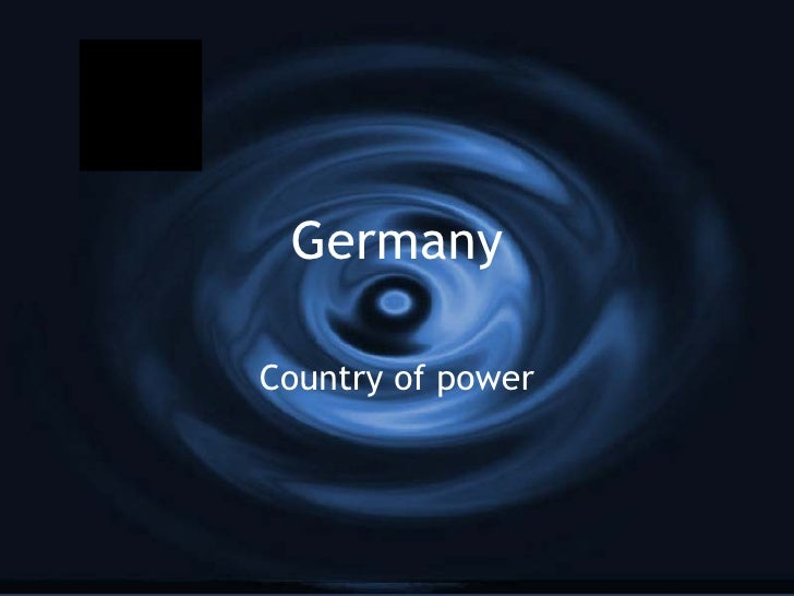 Germany Country of power