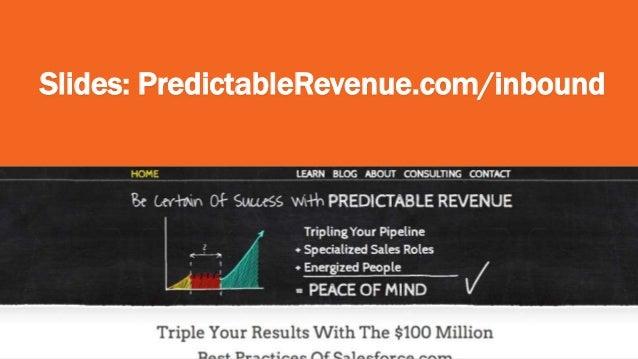 "Hubspot Inbound Conference Talk - ""Create Predictable, Scalable Sales Revenue"" Slide 2"