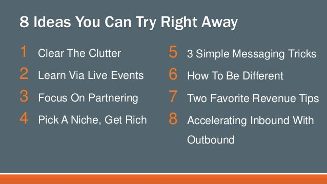 """Simple, Sane & Successful Inbound Marketing"" (Hubspot Inbound Conference) Slide 3"