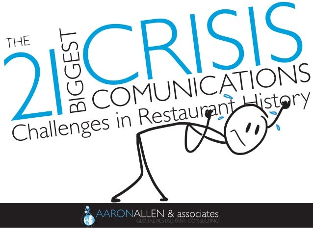 COMUNICATIONS	  CRISIS	  THE	  BIGGEST	  2	  1	  Challenges in Restaurant History